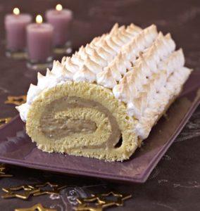 Bûche de Noël à la banane et au chocolat