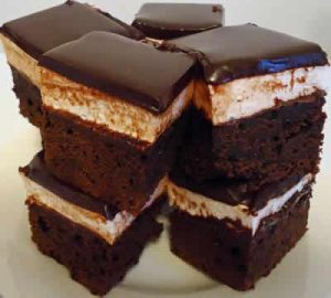 carres de biscuit au chocolat