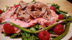 salade au canard confit