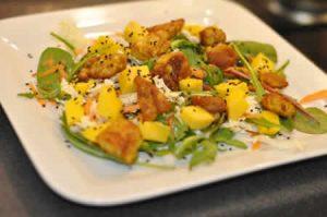 salade de poulet marine au curry