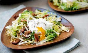 salade lyonnaise vegetarienne