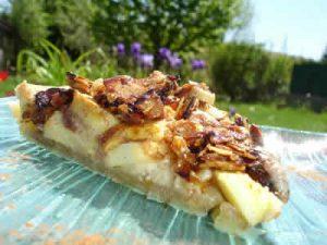 tarte aux pommes croustillante avec creme de cannelle
