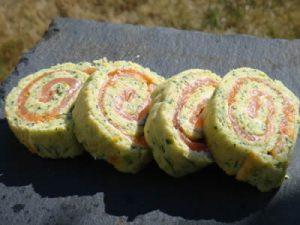 amuse bouches aux courgettes et saumon fume avec thermomix