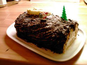 Bûche de Noël au chocolat-café