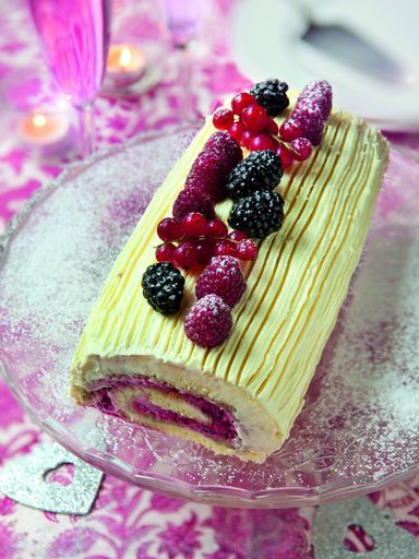 Buche de noel fruit rouge