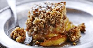 crumble aux pommes et creme de marron