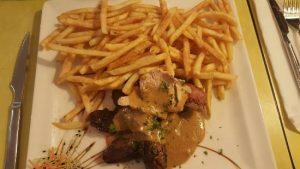 magret de canard avec sauce au foie gras
