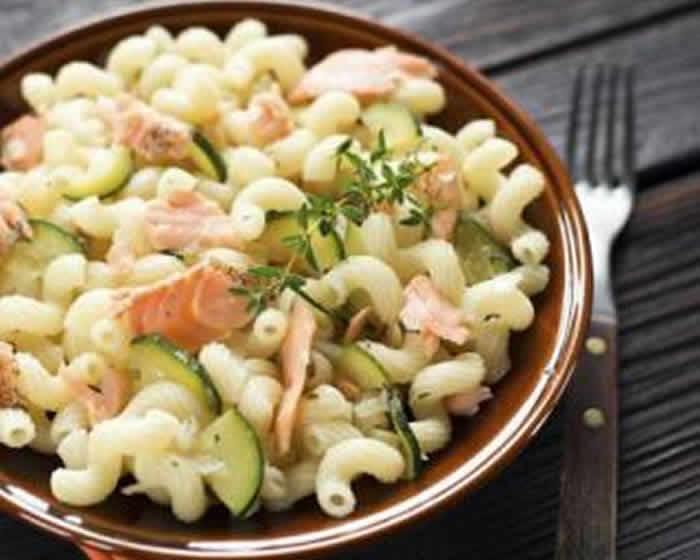 Pates au saumon et aux courgettes avec cookeo recette facile - Plat a cuisiner facile ...