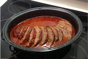 pain de viande sauce rouge avec mijoteuse