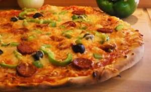 pizza poivrons chorizo avec thermomix