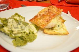 poisson au beurre agrumes et tagliatelles de legumes avec thermomix