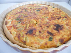 quiche courgettes lardons