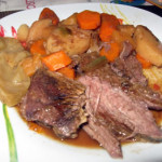 Rôti de bœuf et légumes à la mijoteuse