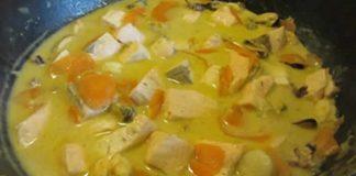 saumon au safran avec cookeo