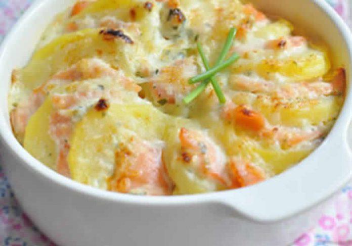 saumon et pommes de terre au creme avec cookeo