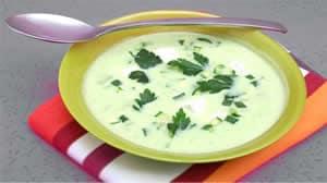 soupe de courgettes et vache qui rit avec thermomix