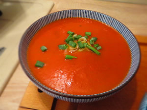 soupe de tomate au piment avec thermomix