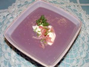 soupe froide de chou rouge gaspacho avec thermomix