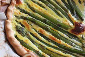 tarte aux asperges et chevre frais avec thermomix