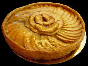 tarte aux pommes avec la creme
