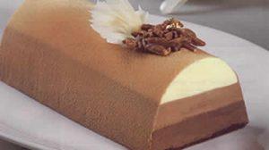 bûche de noël aux trois chocolats
