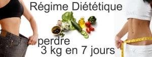 perdre 3 kg en 7 jours
