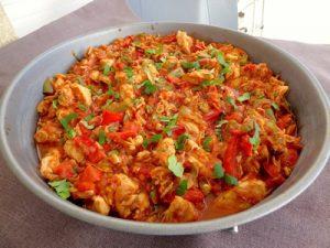 emince de poulet aux tomates sechees