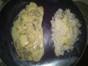 filets de poulet avec moutarde et creme