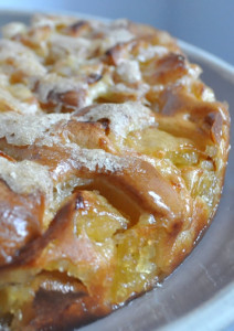 gateau moelleux aux pommes amande et citron sans gluten