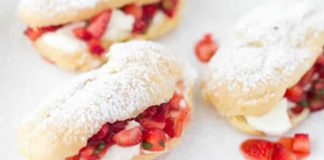 mini eclairs fraise sans gluten