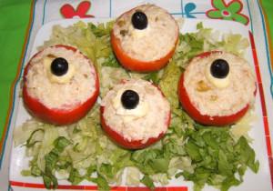 mini tomates farcies au thon avec thermomix