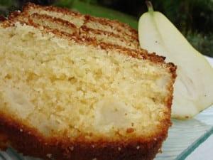 moelleux aux poires sans gluten