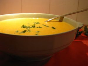 soupe de citrouille sans gluten