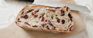 Gateau au pain et cranberry avec thermomix