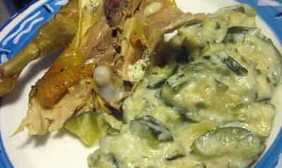 poulet au boursin et courgettes avec cookeo