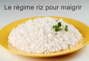 Le régime riz pour maigrir