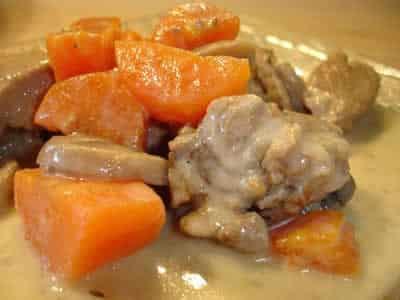 Blanquette veau avec champignons au cookeo