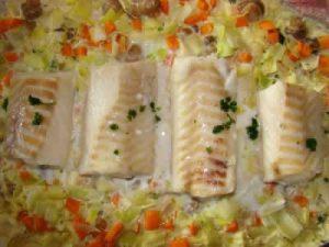 cabillaud legumes cookeo