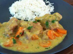 saute de dinde au curry et coco avec cookeo