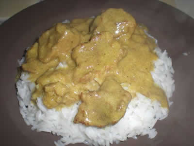 porc curry facile cookeo