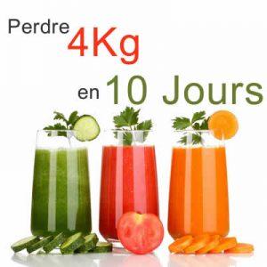jus legumes fruit perdre 4 kg 10 jour