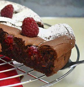 recette gateau chocolat fraises