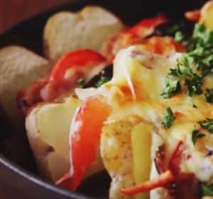 recette jambon legumes poele