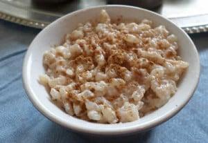 Riz au lait et cannelle au cookeo