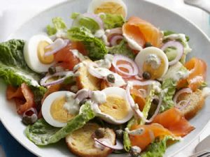 salade frisee saumon fume