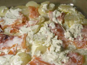 Saumon pommes de terre à la crème au cookeo