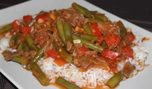 agneau haricots verts cookeo