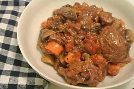 veau aux champignons carottes cookeo
