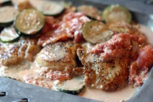 poulet aux courgettes boursin cookeo