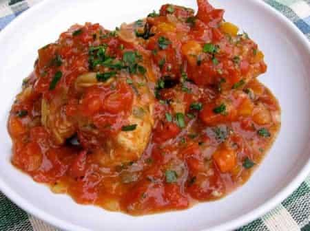 pilons de poulet aux tomates cookeo